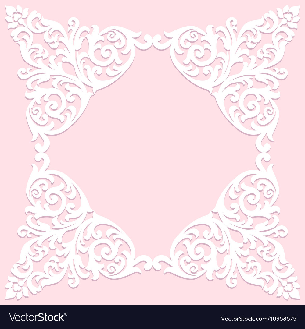 Template for invitation vector