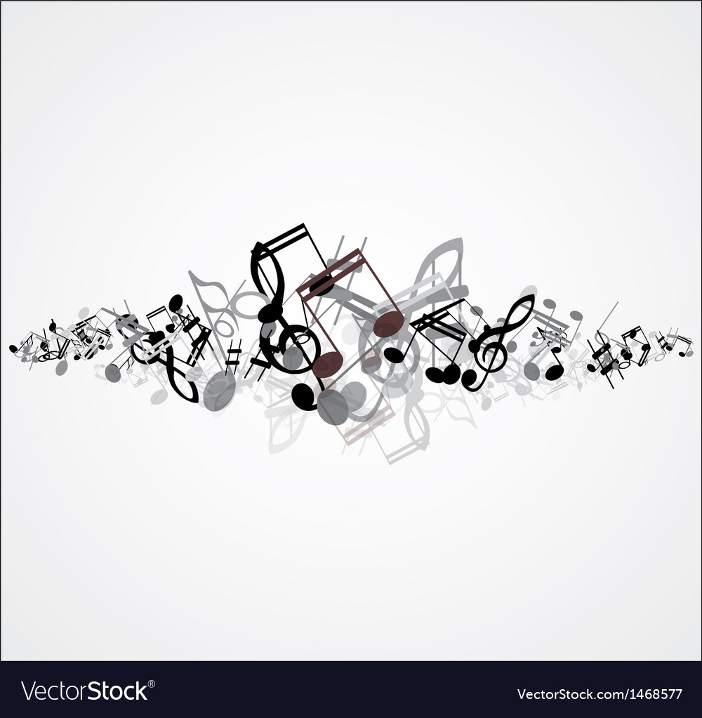 Beautiful music note background design vector