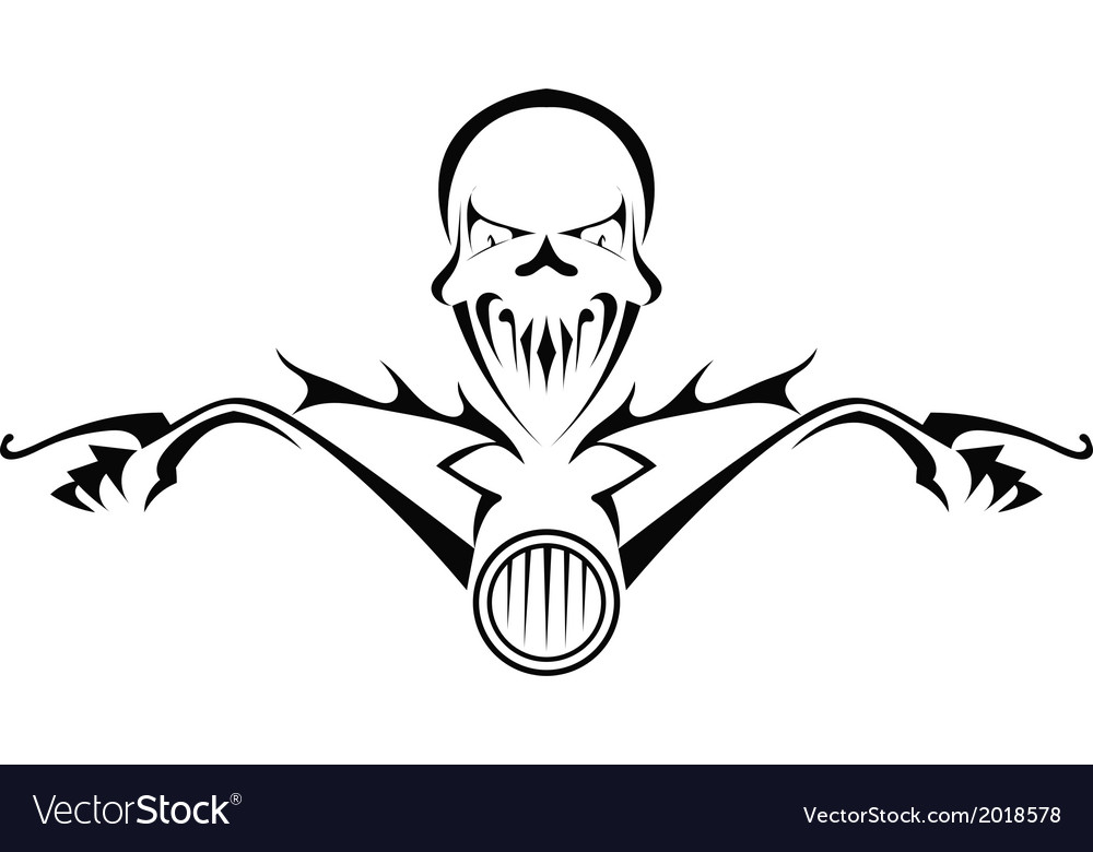 Death monster on motorcycle vector