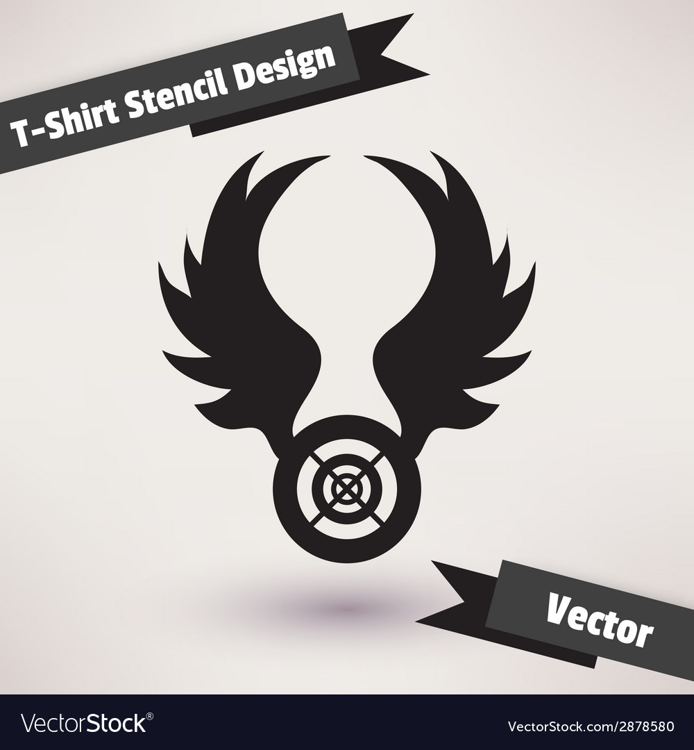 Tshirt stencil design template for your design vector