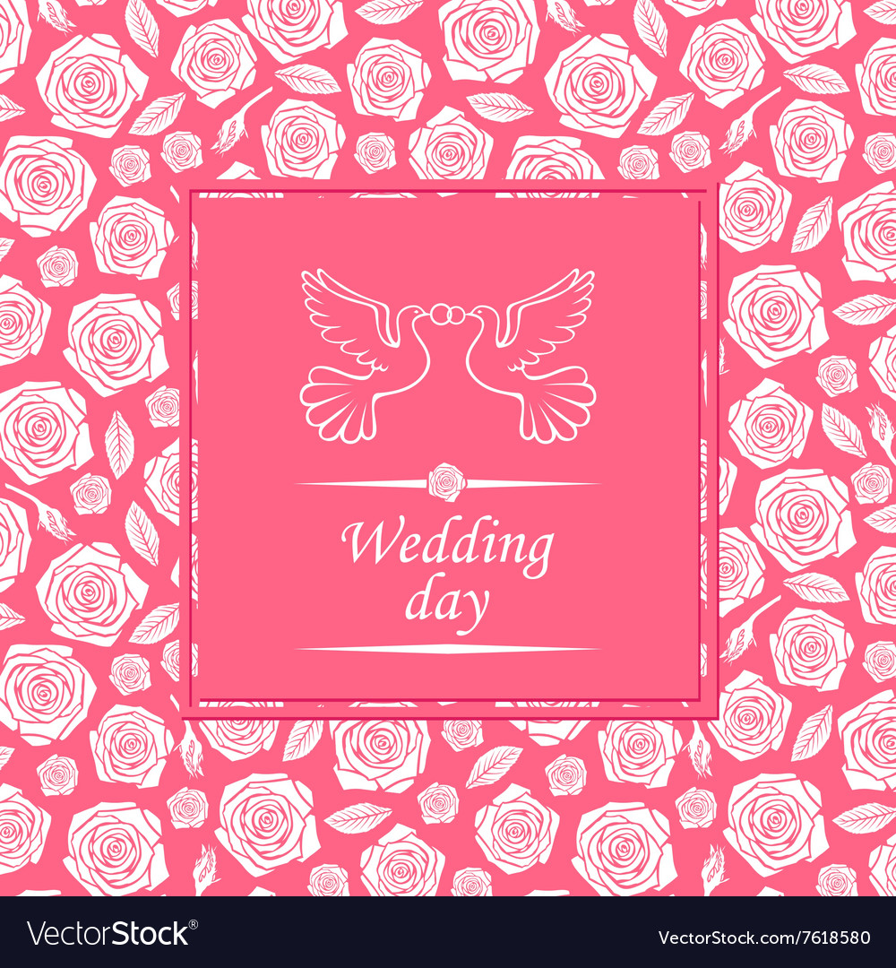 Wedding rose rose vector