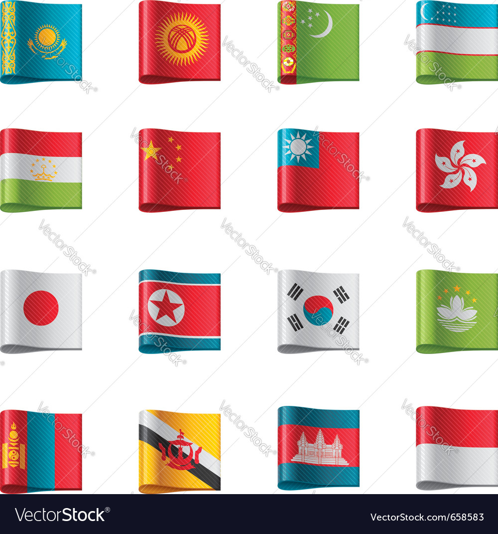 Flags  asia vector