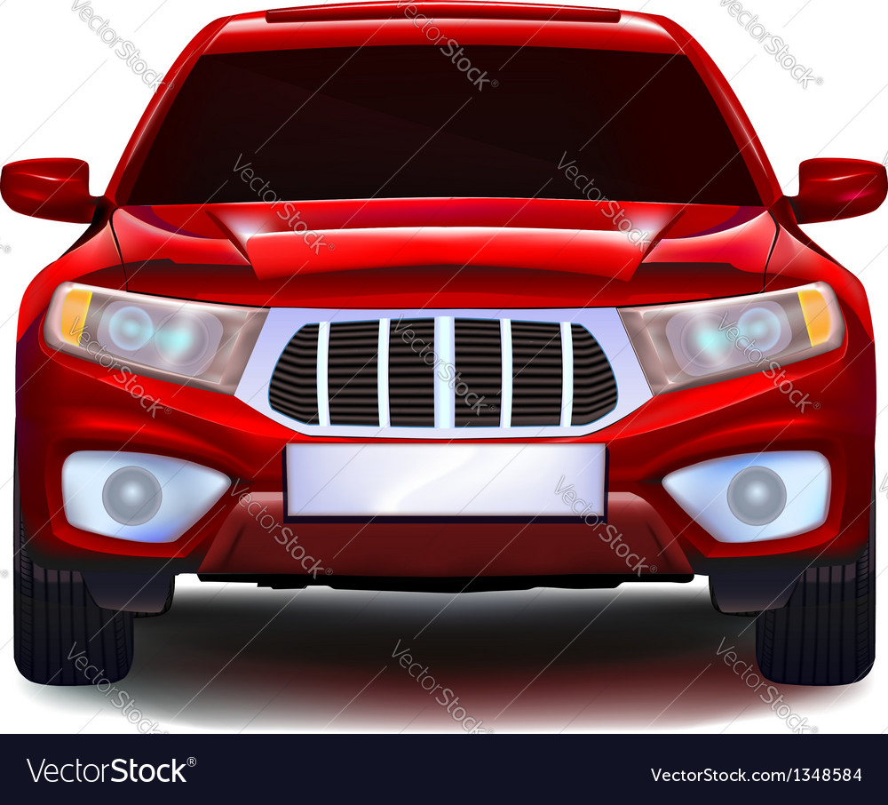 Red crossover car vector