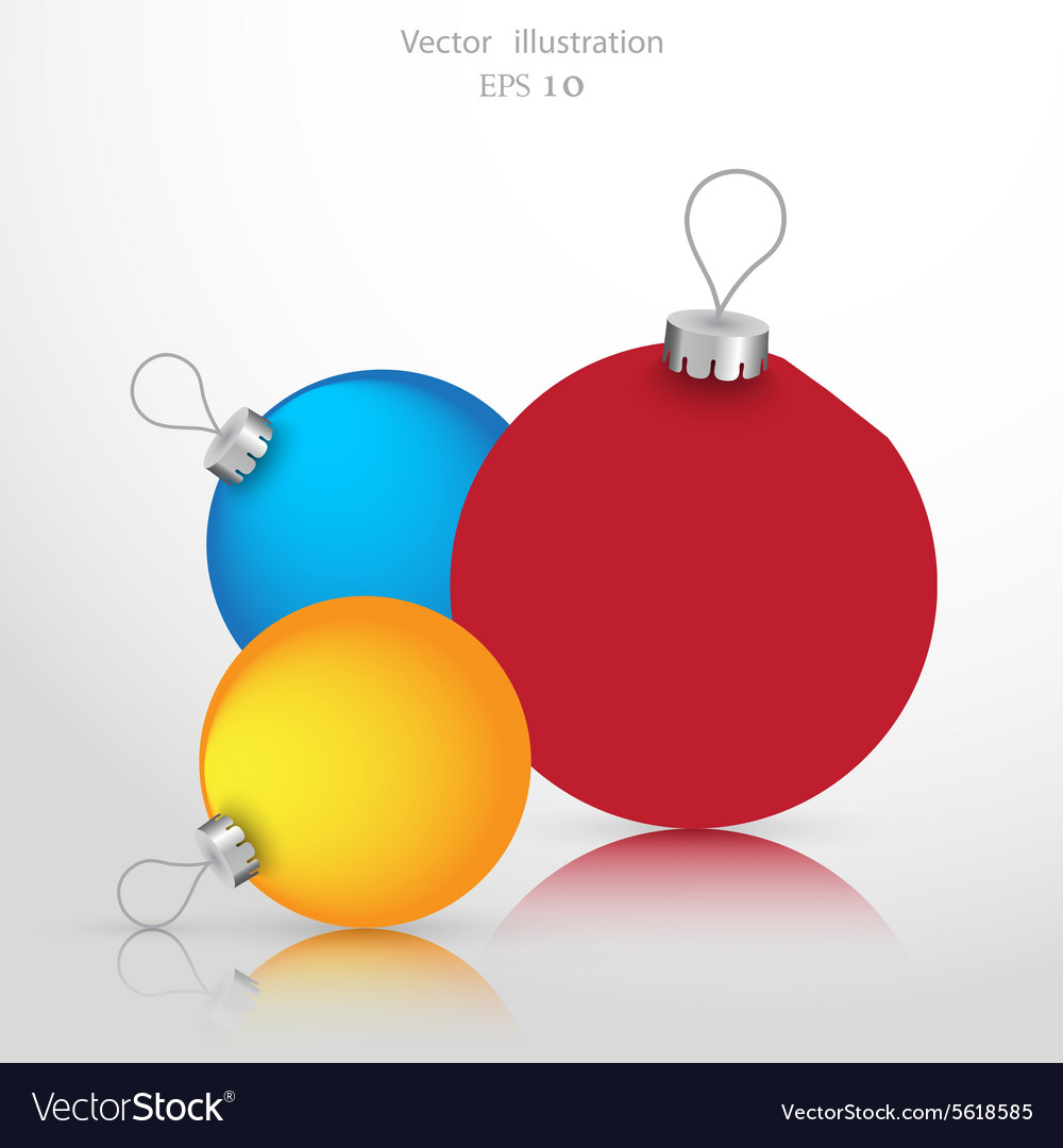 Christmas ball background icon vector
