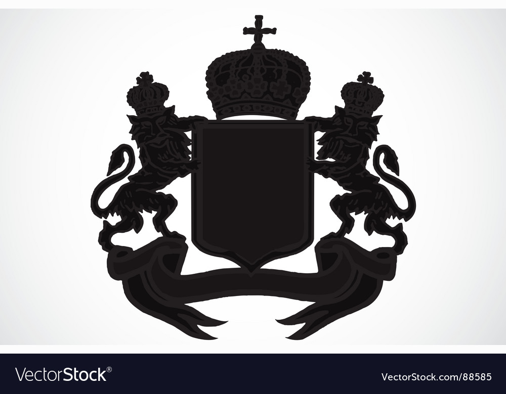 Crest and crown vector