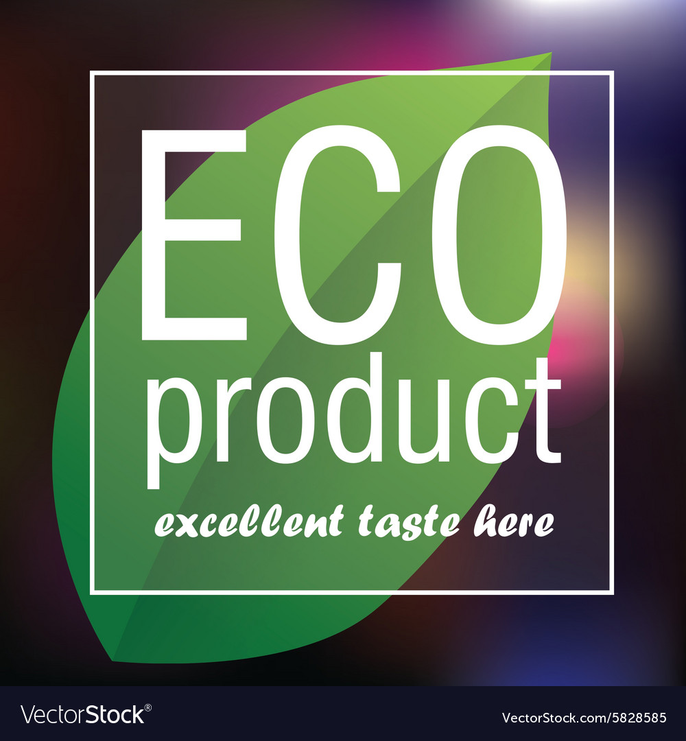 Eco product poster abstract background vector