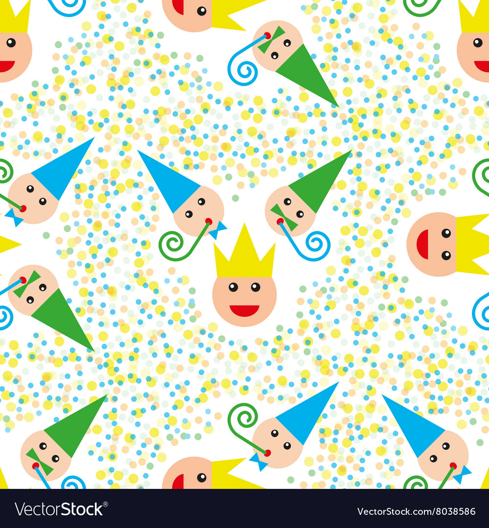 Seamless party pattern composed vector