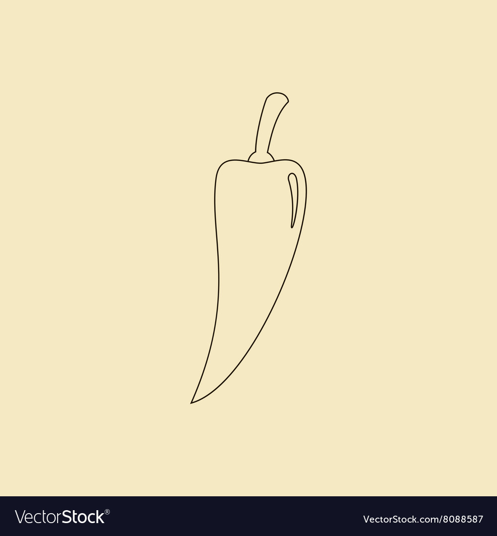 Jalapeno vegetable icon vector