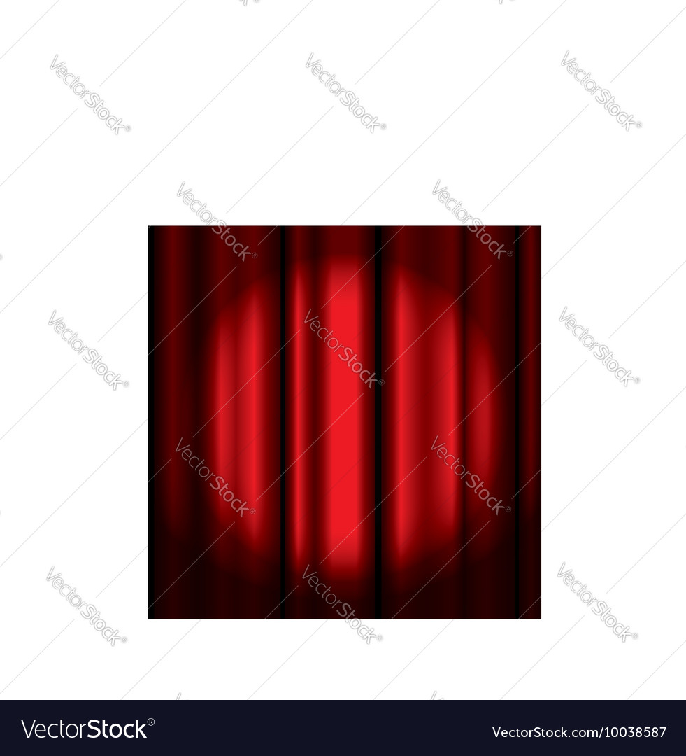 Ter curtain with spotlight vector