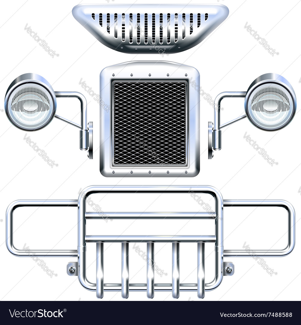 Front car part vector