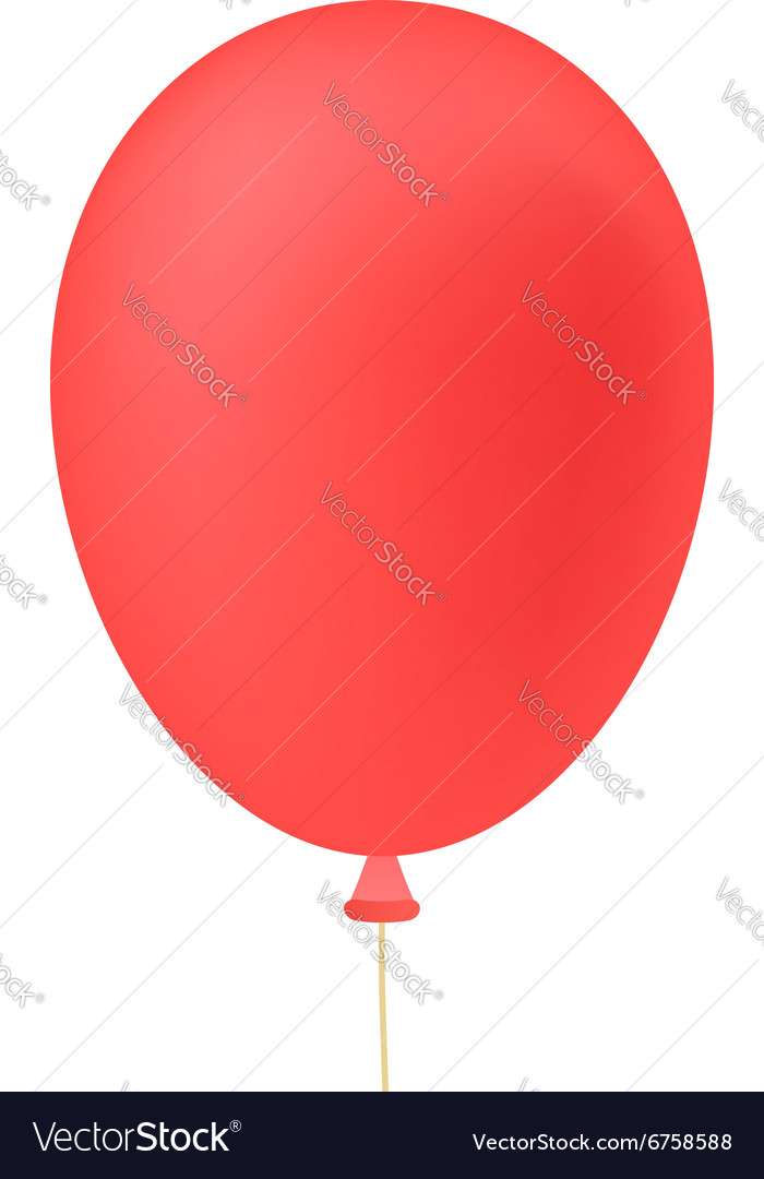 Red ballon isolated on white background vector