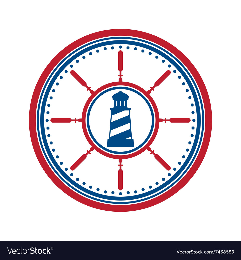 Lighthouse symbol on white vector