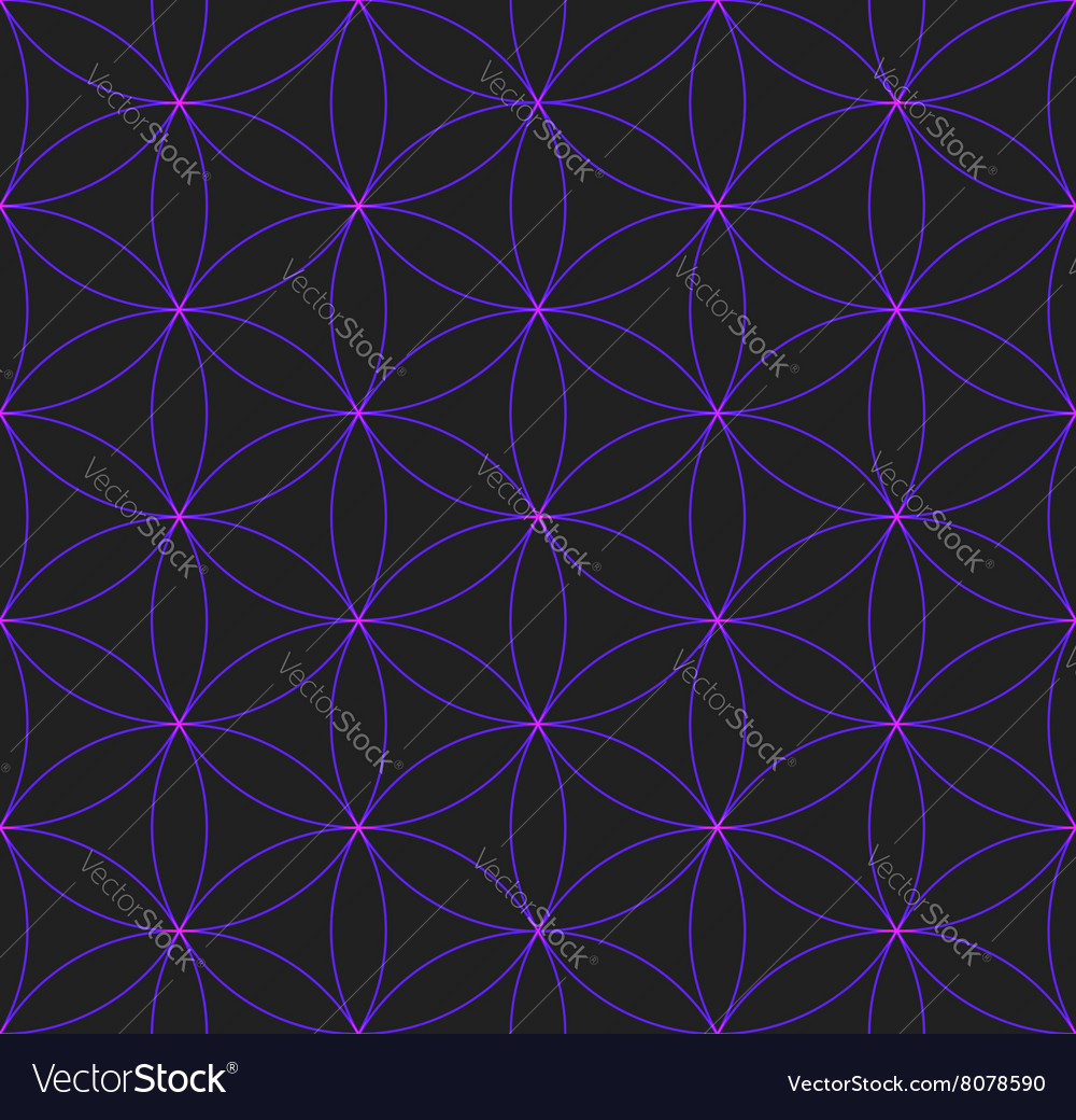 Colored flower of life sacred geometry pattern vector