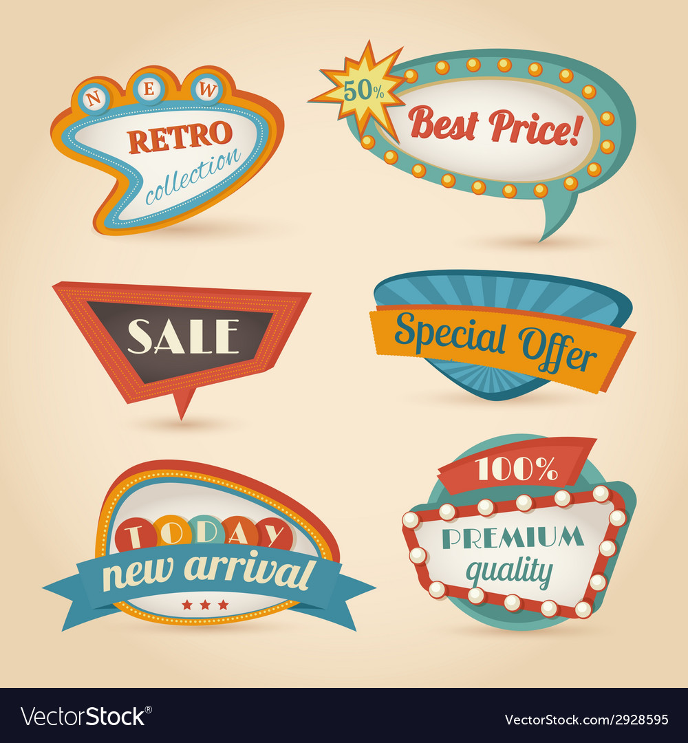 Retro speech bubble vector
