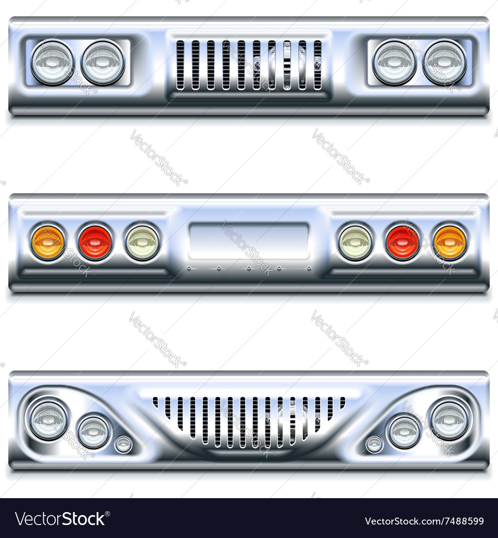 Front and rear car part vector