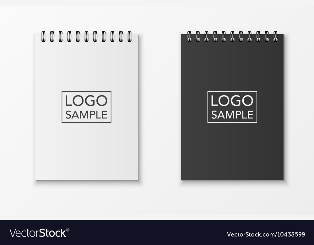 Realistic notebook set vector