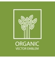 Organic farming logo design idea vector image