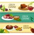 Czech cuisine restaurant menu banners design vector image