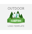 Adventure Outdoor Tourism Travel Logo Vintage vector image