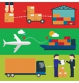 Logistic Infographics for Web or Mobile aplication vector image