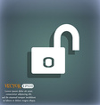 Lock sign icon Locker symbol On the blue-green vector image