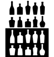 black and white bottles vector image vector image