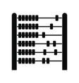 Children abacus black simple icon vector image