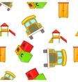 Elementary school pattern cartoon style vector image