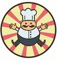 funny cartoon cook vector image