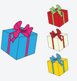 image of colored gift boxes vector image