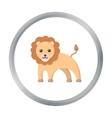 Lion cartoon icon for web and mobile vector image