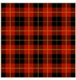 Red Tartan Plaid Design vector image
