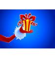 Santa and gift vector image