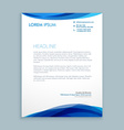 Wave style modern letterhead vector image
