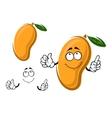 Yellow ripe cartoon mango fruit vector image