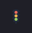 Traffic lights computer symbol vector image