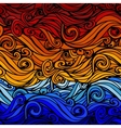 Blue-Orange Abstract Striped Background vector image