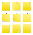 postit notes vector image