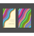 Business card with vivid lines Flyer layout vector image