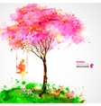 Artistic tree design vector image