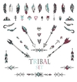 Collection of Ethnic decor elements vector image