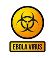 Ebola Yellow Danger Sign vector image