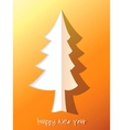 Paper cut christmas tree EPS8 vector image