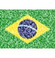 pixel brazil flag vector image