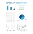 Set of infographic elements Diagrams and graphs vector image