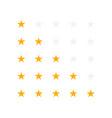 set of yellow rating stars vector image