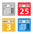 Simple calendar icons vector image