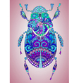 colorful bug vector image vector image