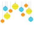 pixel art christmas tree ball flat composition vector image