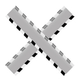 grayscale do not cross ribbon vector image